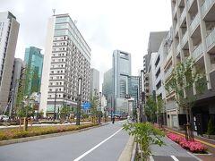 東新橋一丁目付近を歩く