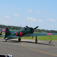 龍ヶ崎飛行場で往年の名戦闘機であるゼロ戦の離陸シーンを見ました!