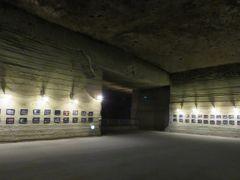 2017春、長野、群馬と栃木の名所巡り(22/26):4月27日(4):大谷資料館(3):ライトアップされた地下空間、地下に飾られた写真とドンペリ