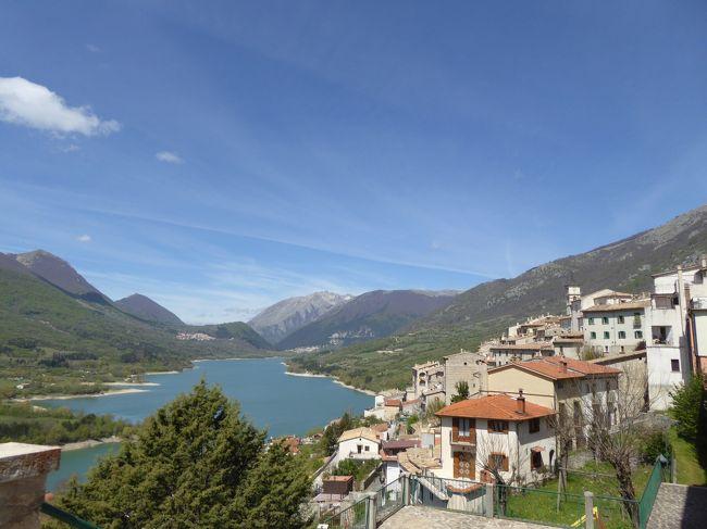 春の優雅なアブルッツォ州/モリーゼ州 古城と美しき村巡りの旅♪ Vol272(第10日) ☆Barrea:美しき村「バッレーア」天国のような素晴らしいパノラマ♪