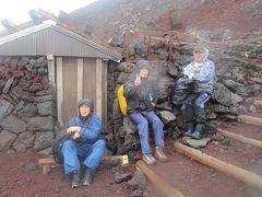梅雨時富士登山
