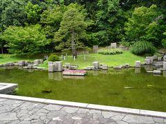 万博公園(4) 日本庭園の中に在る「はす庵」で昼食を摂りました。