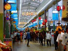 祇園祭おむかえ提灯 寺町商店街アーケードの下を練り歩く