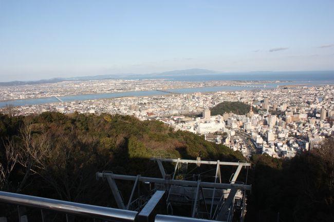 徳島・鞆の浦旅行記2016年冬(3)眉山と徳島市街散策編