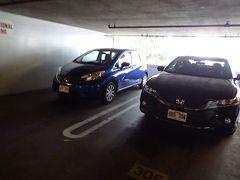 4度目のハワイ ホテルの駐車場ほか