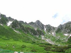 晴れ間がのぞいて千畳敷カールと駒ヶ岳を見ることができた!