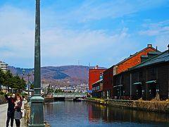 小樽-2 小樽運河 市民が保存した歴史的遺産 ☆散策路を往復して