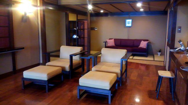 夏は暑いし混むから出掛けない主義。<br />なのに突然思い立ち、直前予約で伊豆の北川温泉へ行ってきました。<br /><br />宿泊は高級旅館『望水』です。<br />一休comサイトから予約。<br />クーポンとポイント利用で一人宿泊・1泊2食・部屋お任せで、<br />¥32,400→¥26,578。(入湯税別)<br /><br /><br /><br />予約済みの無料貸切露天風呂へ行った後は、お待ちかねの夕食だー♪<br />
