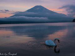 2017年山中湖ロッジ滞在記(5)湖畔で朝晩富士山を眺め、青木ヶ原樹海を歩き、土砂降りの雨の中花火見物
