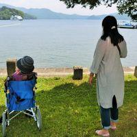 87歳の父と83歳の母を連れて斑尾へ。 その2 ホテルを出て野尻湖へドライブ 野尻湖周辺をプラプラしてお蕎麦を戴いてナウマンゾウ博物館へ。