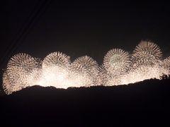 音羽山 山頂から、琵琶湖の花火大会を見物。