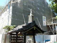 曹源寺(さざえ堂)の工事は、若干延びています。_(群馬県・太田市)