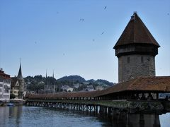 2017年7月 スイス2日目 その1 ルツェルン旧市街地 ライオン記念碑・カペル橋・ムーゼック城壁