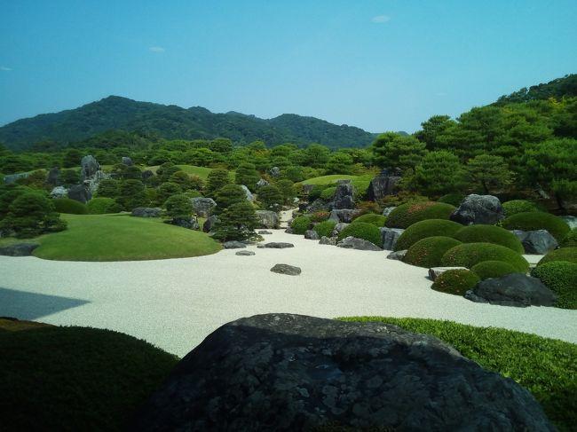 初めての山陰旅行、東京発一泊二日(バス車内泊を除く)で、出雲大社~松江城~足立美術館~水木しげるロードを廻った時の記録です。<br />その2では、2日目の足立美術館と水木しげるロード・記念館を記録しています。