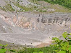有珠山の外輪山遊歩道から眺める火口と噴火湾の大パノラマ絶景(北海道)