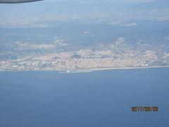 イベリア周遊の旅(4)コルシカ・サルジニア上空を飛びバルセロナへ。