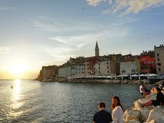 イタリア三都市 + イストラ半島ドライブ #9 : ロヴィニ、アドリア海の夕陽