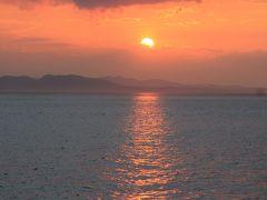 定員217名の船に乗客1人!洲本から淡路関空ラインで関西空港へ。夕景を楽しみながらの船旅。
