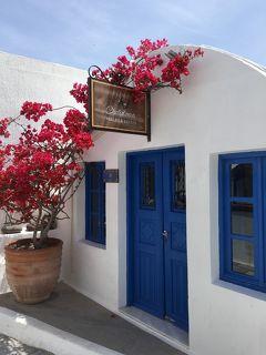 オーシャニア・リビエラ地中海クルーズvol.34 イア城跡からの絶景☆サントリーニブルーと白いイアの街。