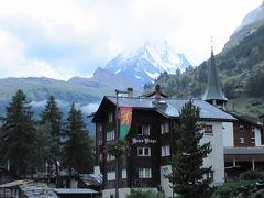 2017年7月 スイス 6日目 その1 ツェルマット 出発前に街を1時間散歩 マッターホルンを見る