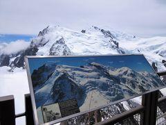 2017年7月 スイス 6日目 その1 ツェルマットから移動しモンブランを見にエギーユ・デュ・ミディ展望へ
