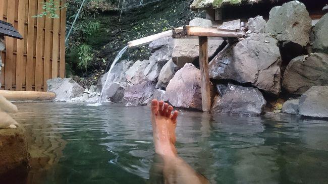 遅めの夏休みで初訪問。<br />いつもの温泉と酒三昧の3泊4日。<br />この宿のいいところ<br />1.部屋の鍵がふたつある。<br />2.WiFiが客室まで飛んでいる。<br />3.大浴場にバスタオルがふんだんに置いてある。<br />4.朝から晩まで大浴場、露天風呂が利用できる。<br />5.湯上りビールが300円で楽しめる。<br />悪いところ<br />1.大浴場と露天風呂が別々になっている。<br />2.露天風呂までの道のりが階段ばかりで<br />全くバリアフリーでない。<br />3.夕食の飲み物が高い。ワインや日本酒のフルボトルや四合瓶の提供がない。結局、ビール3杯飲むなら<br />飲み放題2,320円にせざるを得ない。→とは言え、<br />飲み放題でしこたま飲みまくったけど。<br />4.徒歩圏内にお昼ご飯に地のものを肴に呑める店がない。