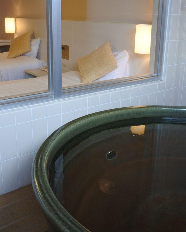 露天風呂付特別和洋室に泊まる。