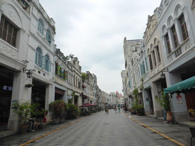 3歳娘を連れて台風シーズンの海南島5日間の旅4-うっとりする美しさの海口騎楼街