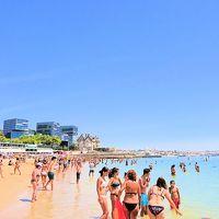 父+娘二人(8歳、5歳)で欧州五か国の旅-01.娘たちの初海水浴はポルトガルのカスカイス