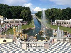 ピョートル大帝の噴水とヴィザ