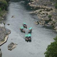 亀山から保津川を見下す。この景色も日本有数の絶景です。