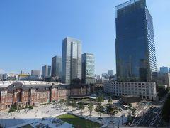 久しぶりに新丸の内ビル7階テラスから見た東京駅丸の内駅前広場等の風景