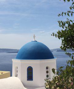 オーシャニア・リビエラ地中海クルーズvol.35 やっぱり、サントリーニの青いドームは綺麗でした!!ラストデイナーは「ジャック」のフランス料理♪