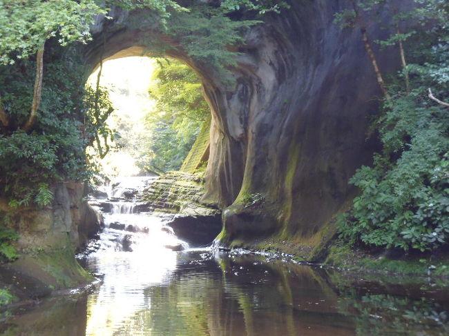 最近知った亀岩の洞窟あたりを散策にいきました。君津在住の友人に聞いても、あまり知らなかったところですが、SNSで話題になったということで、地元の人より外から見に来る人が大勢です。<br />車のナンバーも千葉県内より神奈川、東京ナンバーが多いね。<br />地元の人が濃溝の滝と亀岩の洞窟を間違えているんだよなーと言ってました。