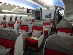 香港一人旅1☆エチオピア航空ビジネスクラス 成田~香港