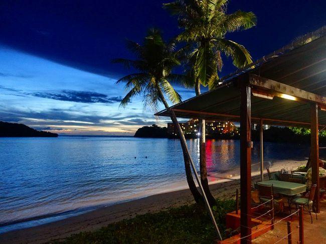 グアム4日目は再びホテルでカヌーを借りてアルパット島まで行き、そこでシュノーケリング。<br />  その後はプールでがっつり楽しみました。<br />  実質自由に遊べるのはこの日が最後、晩餐は海辺のレストランで。