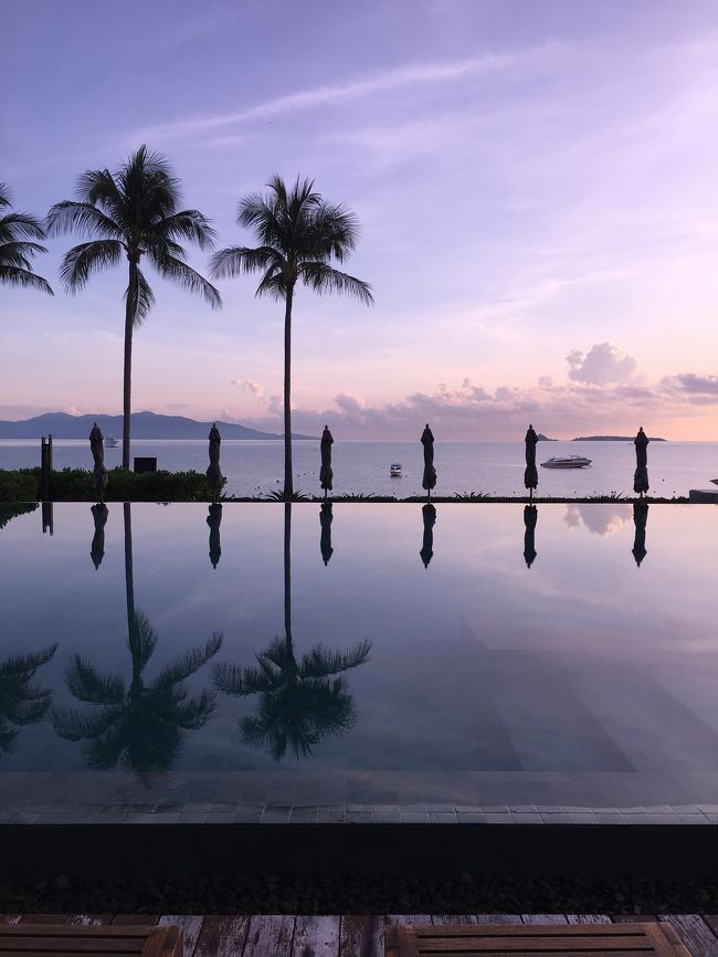 2017年9月8日~12日の4泊5日でタイのサムイ島へ 。昨年に行ったマレーシアのランカウイ島でのビーチリゾートが、思いのほか良かったので、今年もビーチリゾート! に決定。半年以上前から色々なサイトやら何やらを調べまくって、今年はサムイ島に。検索の条件としては、<br />① 予算上、アジアのビーチリゾート<br />② 直行便ではなく、国内線もしくは船での乗り継ぎ有り(旅行気分高まる&日本人率が下がる気がして)<br />③ホテルは1泊2万円程度のプール付き<br /><br />9月7日 JAL深夜便で羽田~タイスワンナプーム空港<br />9月8日 7:30発のバンコクエアーウェイズでサムイ島<br />9月9日 体験ダイビング(Discovery Diversさん)<br />9月10日 プールや海でダラダラ<br />9月11日 チャウエンで買い物<br />9月12日 18時過ぎの便でスワンナプーム、JAL夜便 で羽田へ<br />               <br /><br />