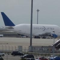 Dream Lifter を見に中部国際空港へ。787のとなりにいました。
