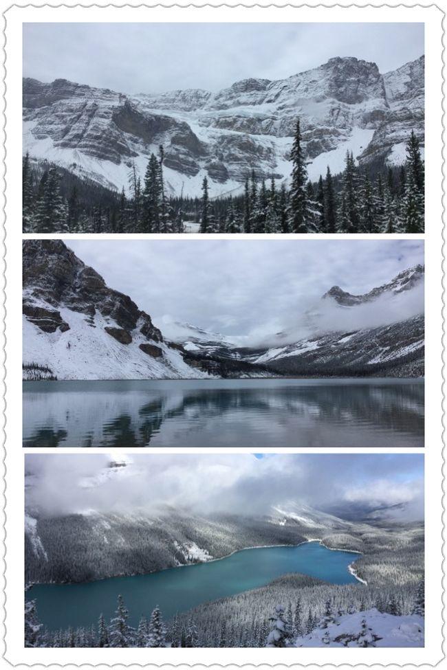 遅めの夏休みでバンフに行ってきました。<br />観光で歩くところは雪がなく、景色の山には雪が積もっている(氷山が雪で隠れていない)最高の時期でした。