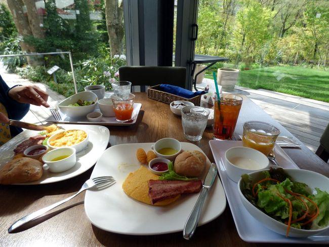 この日の朝食は、前日ランチを頂いた箱根ラリック美術館のカフェ・レストランLYS(リス)で頂きます。<br /><br />ランチは美味しかったものの、コスパは?な感じでしたが、有名なモーニングセットはどんなものか試します。<br />