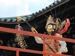 大念佛寺の「万部おねり」を見学し、杭全(くまた)神社参拝