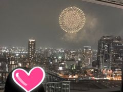 淀川花火大会をヒルトンホテルから見る旅+コロッケショー