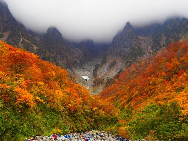 紅葉の名所、一ノ倉沢の紅葉のハイキングツアーを予約したものの、天気が・・・天気予報的には午後から雨です。台風めー。<br />本当に今秋は紅葉ハイクの予定が立てづらい。。。<br /><br />今回は四季の旅のハイキングツアーを利用。基本到着したら自由行動で帰りに温泉に寄って新宿に戻ります。ハイキング時間は4時間、温泉は2時間とけっこうゆったりとしたスケジュールで良かったです。<br /><br />今回は一ノ倉沢トレッキングコース<br /><br />ハイキングマップ<br />http://www.tanigawadake-eco.com/images/download/ichinokura.pdf