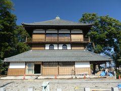 曹源寺観音堂(さざえ堂)の修復工事は完了間近です_2017_来年の1月2日から拝観できるようです。(群馬県・太田市)