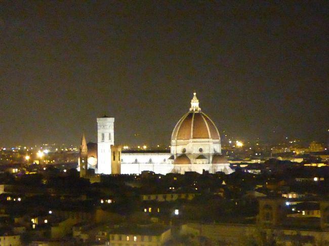 イタリア旅行9日間の3日目~5日目です。<br />朝からヴェネチアを観光し、午後からフィレンツェへと向かいます。<br />フィレンツェでしたいことがたくさんあり、自由時間はいつも急いでいたような…<br /><br />ドゥオモのクーポラとジョットの鐘楼両方、登ることができ<br />郊外のアウトレット「ザモール」に行くことができたので大満足です。<br /><br /><br /><br />↓のような日程で9日間のイタリア周遊です。<br /><br />1日目  関西空港発   ヘルシンキ  ミラノ(アッサーゴ泊)<br />https://4travel.jp/travelogue/11187234<br /> 2日目  ミラノ     ベローナ   ベニス(メストレ泊)  <br />https://4travel.jp/travelogue/11187721<br />https://4travel.jp/travelogue/11191642<br />  3日目  ベニス     フィレンツェ    (フィレンツェ泊)<br />https://4travel.jp/travelogue/11294816<br />◎4日目  フィレンツェ            (フィレンツェ泊)<br /><br /> 5日目  フィレンツェ  ナポリ       (ナポリ泊)<br /><br /> 6日目  ナポリ     カプリ島   ローマ(ローマ泊)<br /><br /> 7日目  ローマ               (ローマ泊)<br /><br /> 8日目  ローマ     ヘルシンキ  関空へ