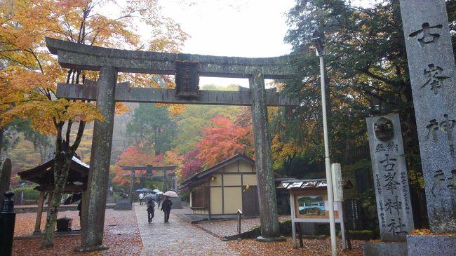 台風22号の影響で一日雨の予報ですが。紅葉を見に古峯神社に行きました。途中大型観光バスと何台もすれ違いましたが。幸い境内には参拝者はまばらでした。本堂が広いなと思っていたけど大広間とかは300畳以上あってビックリです。本堂は祈祷中は撮影禁止ですね。