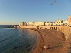 プーリア州優雅な夏バカンス♪ Vol330(第15日) ☆Gallipoli:美しいガッリーポリ旧市街 オレンジ色のビーチとイオニア海に沈む太陽♪