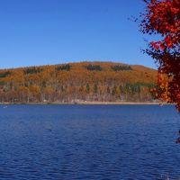秋晴れの中、女神湖から白樺湖へ!