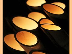 Solitary Journey [1929] 竹筒から溢れだすやわらかなロウソクの光<幻想的な町並みを照らす竹灯り-たけはら憧憬の路->広島県竹原市