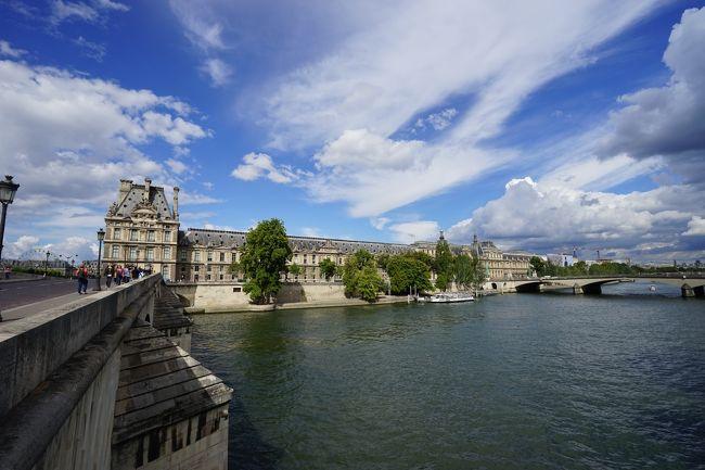 北フランスの旅6日目です。ツアーの自由行動日なのですが、午前中は希望者参加のシテ島散策に参加しました。午後からはオランジュリー美術館、オルセー美術館、ルーヴル美術館とじっくりと美術館巡りをしました。<br />首都パリを流れるセーヌ川の川岸のうち、シュリー橋からイエナ橋までのおよそ8kmが世界遺産の登録対象となっています。構成資産のうちシテ島の①ノートルダム大聖堂②コンシェルジュリー③サント・シャペル、セーヌ右岸の④コンコルド広場⑤チュイルリー庭園・オランジュリー美術館⑥ルーブル宮殿(ルーブル美術館)、セーヌ左岸の⑦オルセー美術館を廻りました。